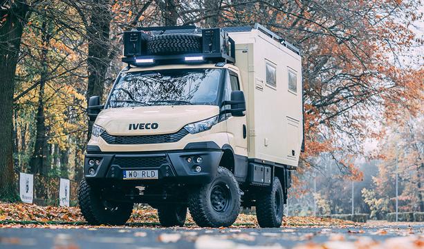 IVECO camper 4x4 w podróży dookoła świata.